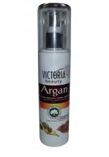 Термозащитный крем для выпрямления волос с маслом аргана и кристаллами семени льна 3 в 1